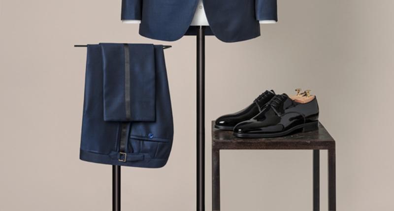 pantalon et chaussures de smoking